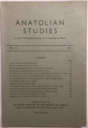 Anatolian Studies. Journal of the British Institute of Archaeology at Ankara. Volumes 16 to 21 and 24 to 27 (1964-1971 and 1974-77).[newline]M4665a-01.jpg