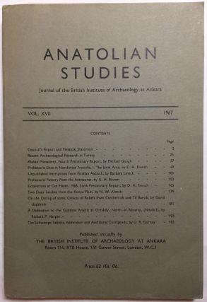 Anatolian Studies. Journal of the British Institute of Archaeology at Ankara. Volumes 16 to 21 and 24 to 27 (1964-1971 and 1974-77).[newline]M4665a-03.jpg