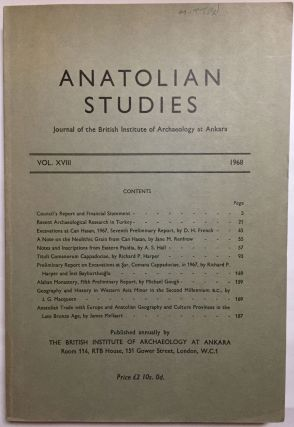 Anatolian Studies. Journal of the British Institute of Archaeology at Ankara. Volumes 16 to 21 and 24 to 27 (1964-1971 and 1974-77).[newline]M4665a-04.jpg