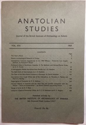 Anatolian Studies. Journal of the British Institute of Archaeology at Ankara. Volumes 16 to 21 and 24 to 27 (1964-1971 and 1974-77).[newline]M4665a-05.jpg