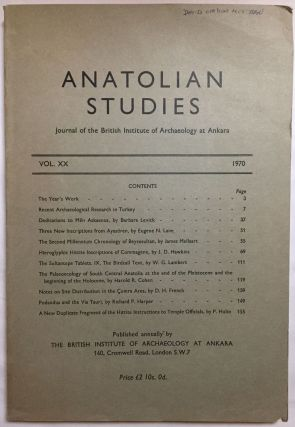 Anatolian Studies. Journal of the British Institute of Archaeology at Ankara. Volumes 16 to 21 and 24 to 27 (1964-1971 and 1974-77).[newline]M4665a-06.jpg