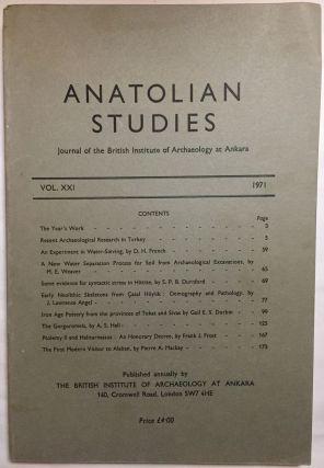 Anatolian Studies. Journal of the British Institute of Archaeology at Ankara. Volumes 16 to 21 and 24 to 27 (1964-1971 and 1974-77).[newline]M4665a-07.jpg