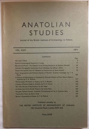 Anatolian Studies. Journal of the British Institute of Archaeology at Ankara. Volumes 16 to 21 and 24 to 27 (1964-1971 and 1974-77).[newline]M4665a-08.jpg