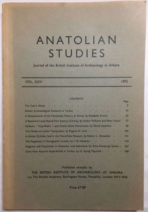 Anatolian Studies. Journal of the British Institute of Archaeology at Ankara. Volumes 16 to 21 and 24 to 27 (1964-1971 and 1974-77).[newline]M4665a-09.jpg