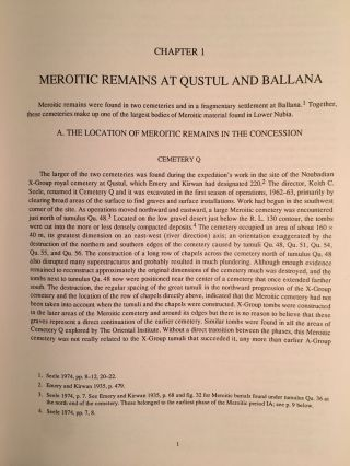 Excavations Between Abu Simbel and the Sudan Frontier, Part 8: Meroitic Remains From Qustul Cemetery Q, Ballana Cemetery B, and a Ballana Settlement. 2 volumes: Text & Figures (complete set)[newline]M4719-05.jpg