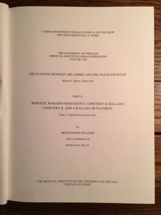 Excavations Between Abu Simbel and the Sudan Frontier, Part 8: Meroitic Remains From Qustul Cemetery Q, Ballana Cemetery B, and a Ballana Settlement. 2 volumes: Text & Figures (complete set)[newline]M4719-10.jpg