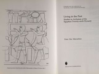 Living in the Past: Studies in Archaism of the Egyptian Twenty-Sixth Dynasty[newline]M4878-01.jpg