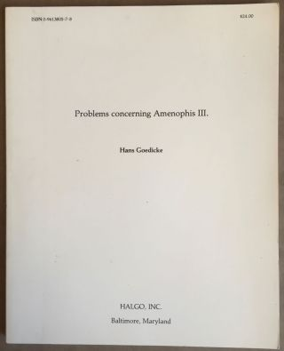 Problems concerning Amenophis III. GOEDICKE Hans.[newline]M4914.jpg