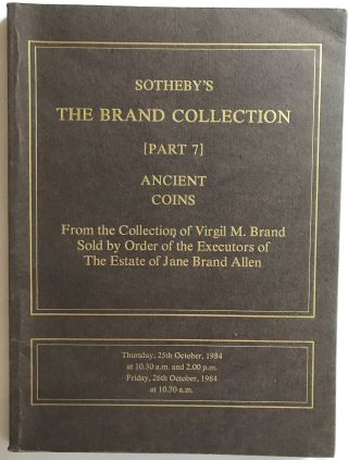 Sotheby's The Brand Collection. [Part 7] Ancient Coins. From the Collection of Virgil M. Brand....[newline]M4960.jpg