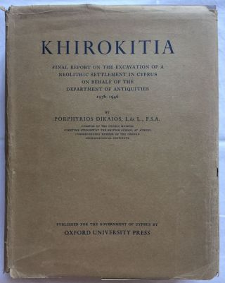 Khirokitia. Final report on the excavation of a neolithic settlement in Cyprus on behalf of the...[newline]M5053.jpg