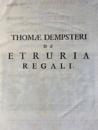 "De Etruria regali libri VII (translation of title: ""About royal Etruria, 7 books"")[newline]M5120-003.jpg"