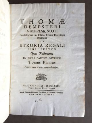 "De Etruria regali libri VII (translation of title: ""About royal Etruria, 7 books"")[newline]M5120-005.jpg"