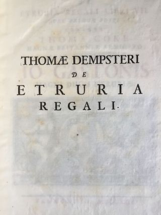"De Etruria regali libri VII (translation of title: ""About royal Etruria, 7 books"")[newline]M5120-125.jpg"