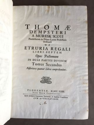 "De Etruria regali libri VII (translation of title: ""About royal Etruria, 7 books"")[newline]M5120-127.jpg"