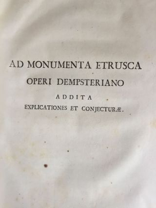"De Etruria regali libri VII (translation of title: ""About royal Etruria, 7 books"")[newline]M5120-145.jpg"