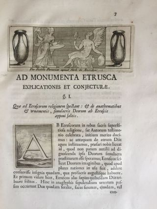 "De Etruria regali libri VII (translation of title: ""About royal Etruria, 7 books"")[newline]M5120-147.jpg"