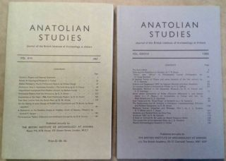 Anatolian Studies. Journal of the British Institute of Archaeology at Ankara. Volumes 17 to 38 (1967 to 1988). AAE - Journal - Set.[newline]M5177.jpg