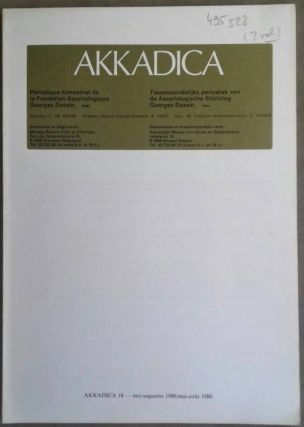 Akkadica 18 et 20 (Mai-août, novembre-décembre 1980). AAE - Journal - Single issue[newline]M5239.jpg