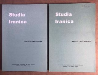Studia Iranica. Tome 12. 1983. Fasc. 1-2. AAE - Journal - Single issue[newline]M5319.jpg