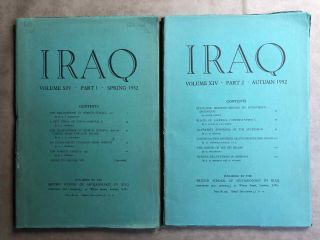 Iraq. Journal of the British School of Archaeology in Iraq. Volume XIV. Parts 1-2. 1952. AAE -...[newline]M5345.jpg