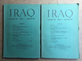 Iraq. Journal of the British School of Archaeology in Iraq. Volume XIX. Parts 1-2. 1957. AAE -...[newline]M5346.jpg