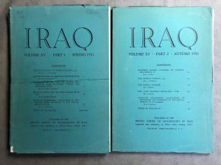 Iraq. Journal of the British School of Archaeology in Iraq. Volume XV. Parts 1-2. 1953. AAE -...[newline]M5348.jpg