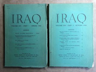 Iraq. Journal of the British School of Archaeology in Iraq. Volume XVI. Parts 1-2. 1954. AAE -...[newline]M5349.jpg