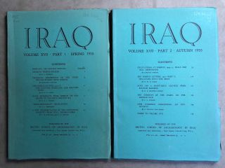 Iraq. Journal of the British School of Archaeology in Iraq. Volume XVII. Parts 1-2. 1955. AAE -...[newline]M5350.jpg