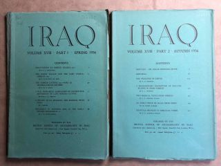 Iraq. Journal of the British School of Archaeology in Iraq. Volume XVIII. Parts 1-2. 1956. AAE -...[newline]M5351.jpg