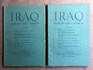 Iraq. Journal of the British School of Archaeology in Iraq. Volume XXI. Parts 1-2. 1959. AAE -...[newline]M5352.jpg