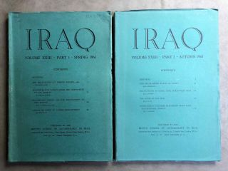 Iraq. Journal of the British School of Archaeology in Iraq. Volume XXIII. Parts 1-2. 1961. AAE -...[newline]M5353.jpg