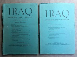 Iraq. Journal of the British School of Archaeology in Iraq. Volume XXIX. Parts 1-2. 1967. In...[newline]M5355.jpg