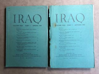 Iraq. Journal of the British School of Archaeology in Iraq. Volume XXX. Parts 1-2. 1968. AAE -...[newline]M5360.jpg
