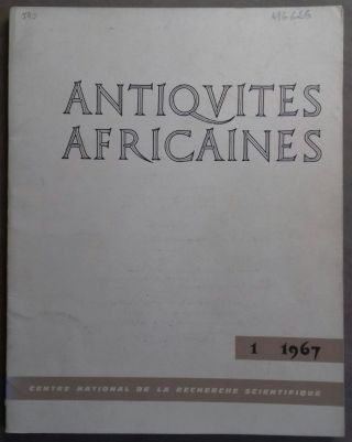 Antiquités africaines. Tome 1. 1967. AAE - Journal - Single issue[newline]M5916.jpg