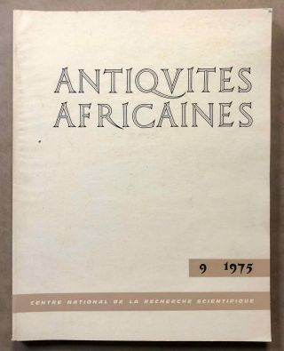 Antiquités africaines. Tome 9, 1975. Applications à l'épigraphie des méthodes de...[newline]M5918.jpg