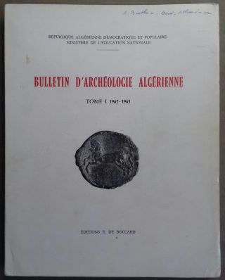 Bulletin d'archéologie algérienne. Vol. I. 1962-1965. AAE - Journal - Single issue[newline]M5928.jpg