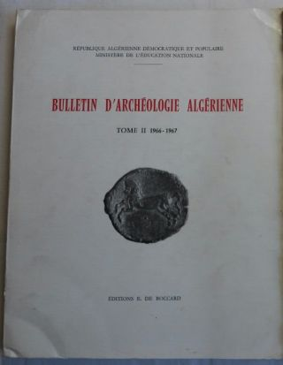 Bulletin d'archéologie algérienne. Vol. II. 1966-1967. AAE - Journal - Single issue[newline]M5929.jpg