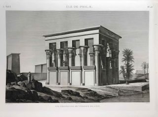 Description de l'Egypte. Ou Recueil des observations et des recherches qui ont été faites en Egypte pendant l'expédition de l'armée française. 2nd edition, complete in 26 volumes of text and 12 volumes of plates.[newline]M5946a-1042.jpg
