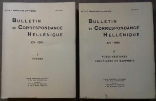 Bulletin de correspondance hellénique. Tome CIII - 1979, I & II. AAE - Journal - Single issue[newline]M6104.jpg