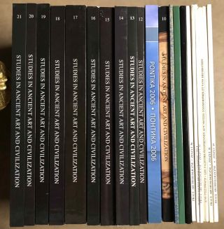 Studies in ancient art and civilization (SAAC), volumes 1-23 (complete set). AAE - Journal - Set[newline]M6171a.jpg