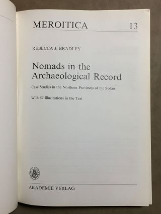 Nomads in the archaeological record: case studies in the Northern provinces of the Sudan[newline]M6489-01.jpg