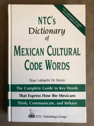 NTC's Dictionary of Mexican Cultural Code Words. The Complete Guide to Key Words That Express How...[newline]M6668.jpg