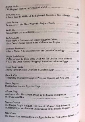 Studia Aegyptiaca XVIII (2007). Proceedings of the Fourth Central European Conference of Young Egyptologists 31 August - 2 September 2006.[newline]M6811a-04.jpg