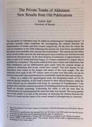 Studia Aegyptiaca XVIII (2007). Proceedings of the Fourth Central European Conference of Young Egyptologists 31 August - 2 September 2006.[newline]M6811a-08.jpg