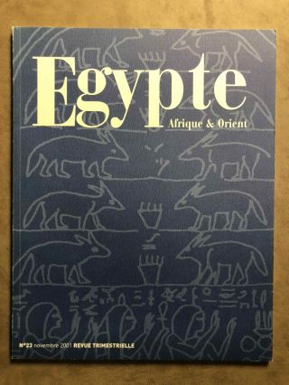 Egypte, Afrique et Orient. No 23. Novembre 2001. AAE - Journal - Single issue[newline]M6889a.jpg