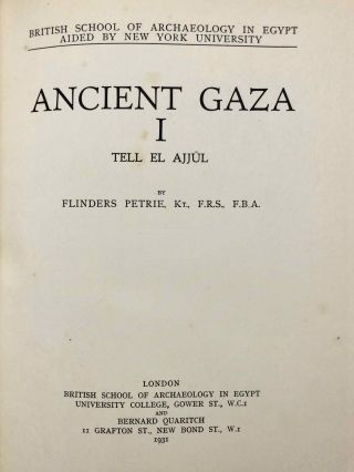 Ancient Gaza. Vol. I, II, III & IV.[newline]M6931b-03.jpg