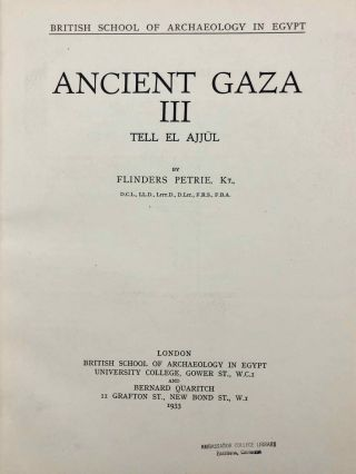 Ancient Gaza. Vol. I, II, III & IV.[newline]M6931b-22.jpg