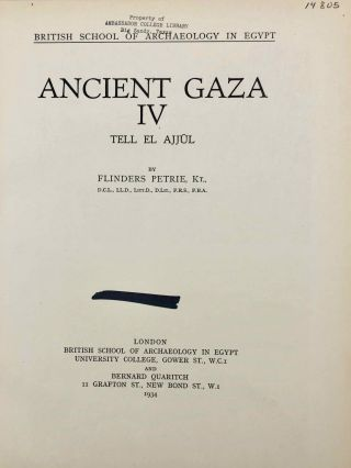Ancient Gaza. Vol. I, II, III & IV.[newline]M6931b-30.jpg