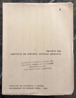 RIHAO 4 (Revista del Instituto de Historia Antigua Oriental, volume 4). AAE - Journal - Single issue[newline]M6969.jpg