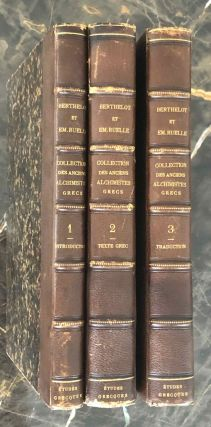 Collection Des Anciens Alchimistes Grecs. Volume I: Introduction, avec planches, figures en...[newline]M7028.jpg